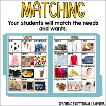 File Folder Activities: Wants and Needs