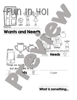 Wants and Needs: A Mini Unit