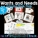 Wants and Needs Adapted Book Pack