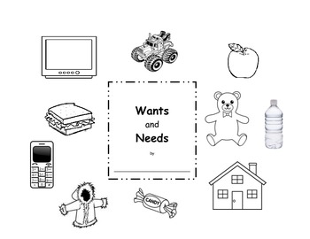 Wants and Needs - Christmas writing and sorting activity