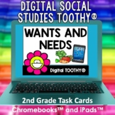 Wants and Needs Digital Social Studies Toothy® Task Cards