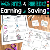 Wants and Needs, Earning and Saving:  A Primary Economics Unit