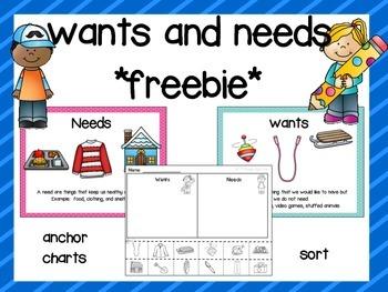Wants and Needs Freebie
