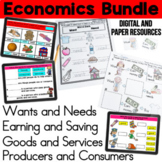 Wants and Needs, Goods and Services, Earning, Saving, Producers, Consumer Bundle