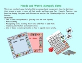 Dual Language Wants and Needs Monopoly Game 2