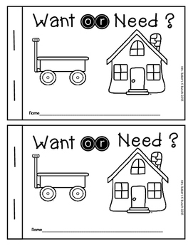 Wants and Needs Non-fiction Emergent Reader