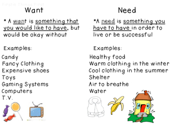 Wants and Needs Pack