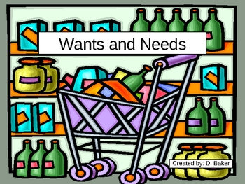 Wants and Needs Power Point Presentation