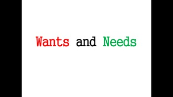 Wants and Needs PowerPoint