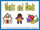 Wants and Needs Shared Reading for Kindergarten Social Studies