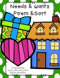 Wants and Needs Sort and Poem
