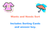 Wants and  Needs Sort