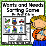 Wants and Needs Sorting Game