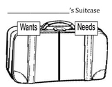 Wants and Needs Suitcase and Supplies