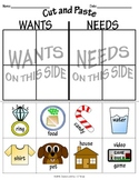 """""""Wants and Needs"""" Worksheets"""