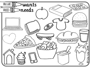 Wants and Needs fold&learn by Lita Lita   Teachers Pay Teachers