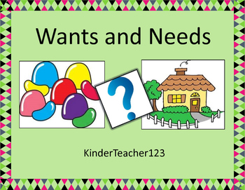 Wants and Needs - writing and drawing