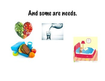 Wants and needs mentor text and activity