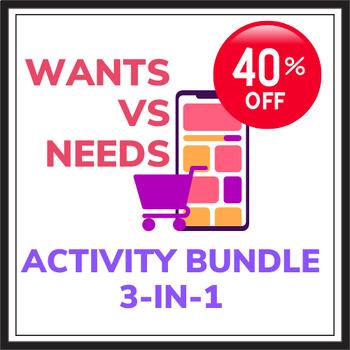 Wants vs. Needs Economics Activity Bundle