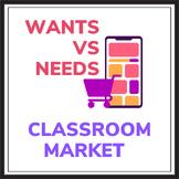 Wants vs. Needs Classroom Market Economics Activity