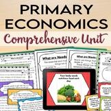 Primary Economics: Wants, Needs, Goods, Services, Producer