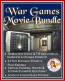War Games Movie Worksheets Bundle -- Multiple Choice + Dis