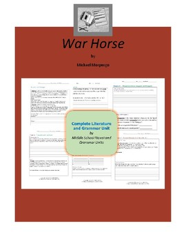 War Horse Complete Literature and Grammar Unit