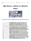 War Horse Grammar Extension - Active v. Passive Voice