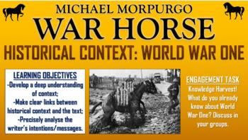 War Horse - Historical Context: World War One!