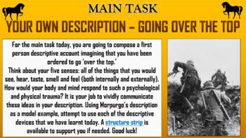 War Horse - Morpugo's Descriptive Language!
