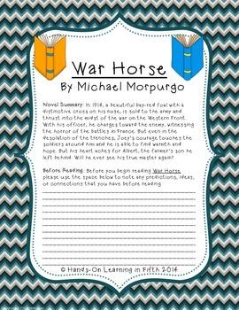 War Horse Novel Study