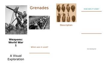 War Horse - Novel Study Project: Weapons Brochures