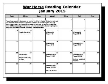 War Horse Novel Vocabulary with Bonus Material