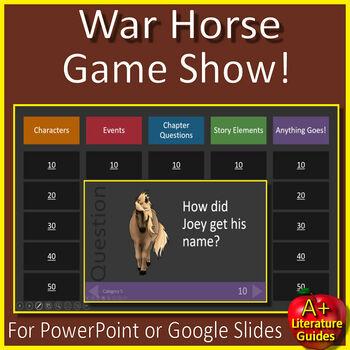 War Horse Novel Study - FREE Sample!