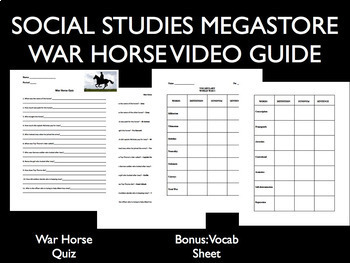 War horse movie guide world war i by social studies megastore tpt war horse movie guide world war i ccuart Gallery