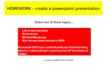 War Horse by Michael Morpurgo powerpoints.