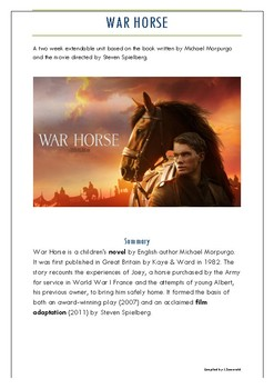 War Horse for upper primary, lower ability, and ESL students