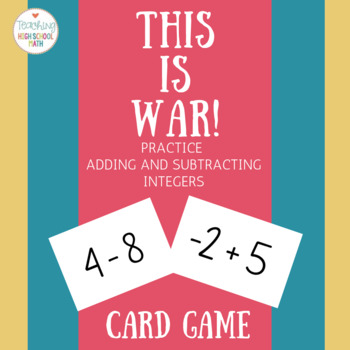 War Integer Addition and Subtraction