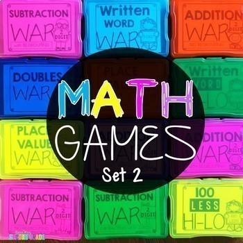 Math Games 2nd Grade Bundle Set 2