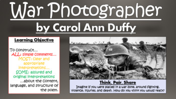 War Photographer: Carol Ann Duffy