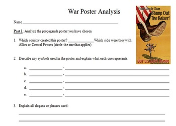 War Poster Analysis Project