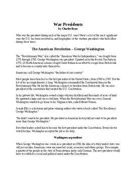 War Presidents