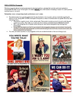 War Propaganda Study Guide