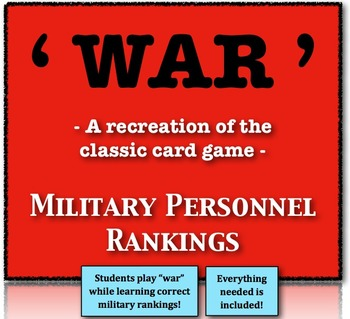 """""""War"""" - Recreating the Classic Game to Rank Military Perso"""