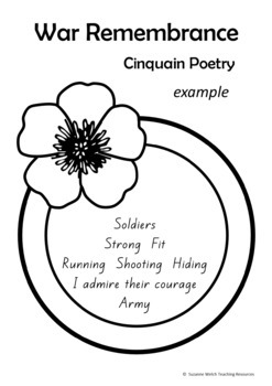 War Remembrance – Cinquain Poetry Writing