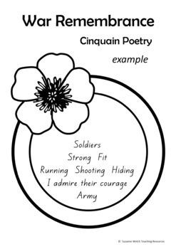 Anzac Day – Cinquain Poetry Writing