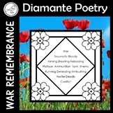 Anzac Day – Diamante Poetry Writing