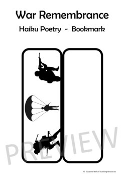 War Remembrance – Haiku Poem on a Poppy Bookmark