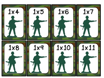 War!  Times Table Facts from 0x0 to 12x12