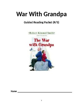 War With Grandpa Reading Packet